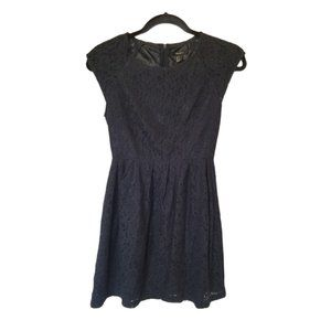 3/$15 Forever 21 Navy Blue mini lace dress small